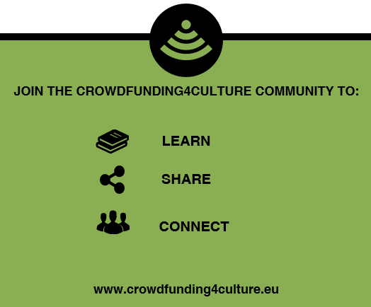 Join the Crowdfunding4Culture community to learn, share and connect.